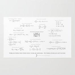 High-Math-Inspiration 01 - Black & Gray Rug