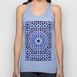 -A18- Original Traditional Moroccan Tile Design. Unisex Tank Top