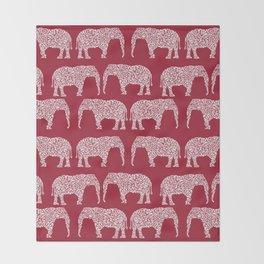 Alabama bama crimson tide elephant state college university pattern footabll Throw Blanket
