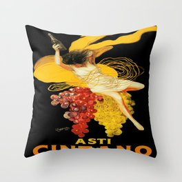 Vintage poster - Asti Cinzano Throw Pillow