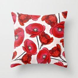 the poppy Throw Pillow
