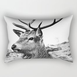 The Stag on the hill - b/w Rectangular Pillow