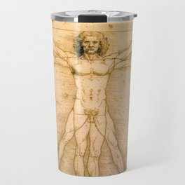 Vitruvian Man by Leonardo da Vinci Travel Mug