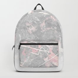 Pastel Pink & Grey Marble - Ombre Backpack