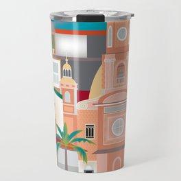 Puerto Vallarta, Mexico - Skyline Illustration by Loose Petals Travel Mug