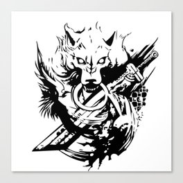 Wolf and Sword Canvas Print