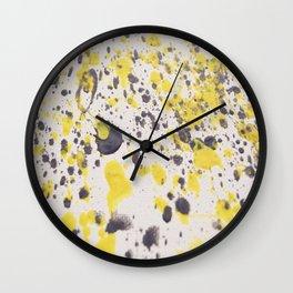 Yellow Grey Classic Abstract Art Wall Clock