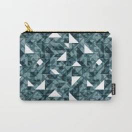 Forest green tagram triangle mix Carry-All Pouch