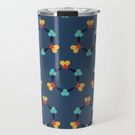 Kaleidescope blue Travel Mug