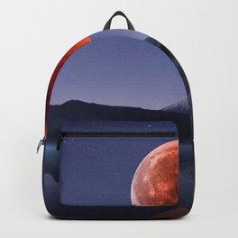 Blood Moon over Mt Rainier Washington State Backpack