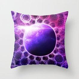 Deep Dream Fractal Mandala - Deep Space Galaxy Dreamer Throw Pillow