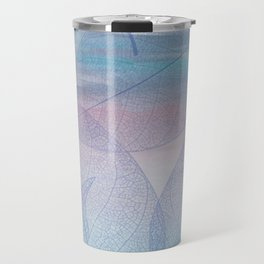 Painterly Pastel Leaves Abstract Travel Mug