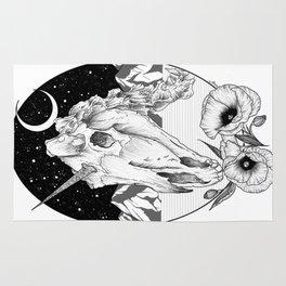 Unicorn skull of night Rug