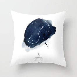 Zodiac Star Constellation - Scorpio Throw Pillow