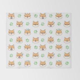 Chibi shiba's Throw Blanket