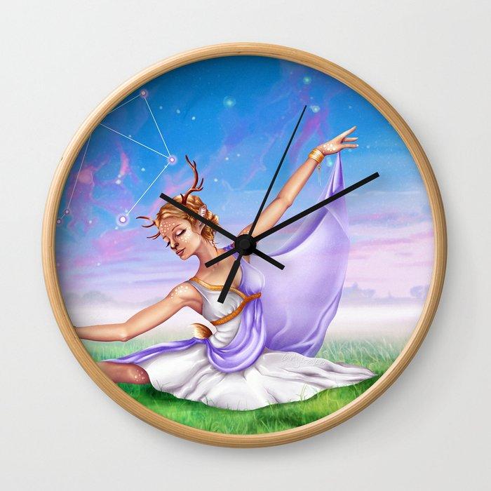 Libra OC - 12 Zodiac Ladies Wall Clock