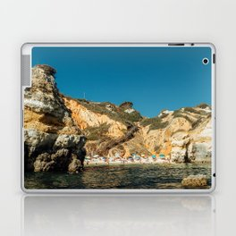 People On Praia do Camilo (Camel Beach) In Portugal, Travel Photo, Large Printable Photography Laptop & iPad Skin