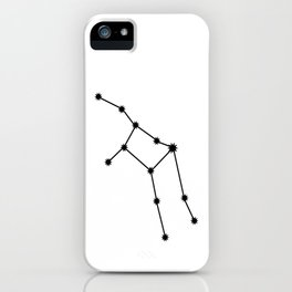 Virgo Star Sign Black & White iPhone Case
