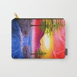 Sky Tree and River Nature Faces ~ Live Painting- wildlight/tpa Carry-All Pouch