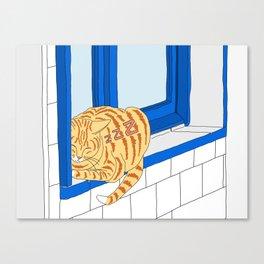 Good Cat's Life Canvas Print