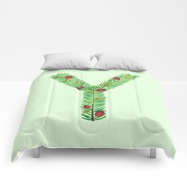 Leafy Letter Y Comforters