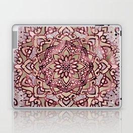 Burgundy plum mandala Laptop & iPad Skin