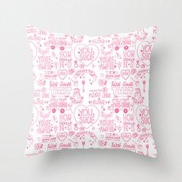 Obscenities Print Throw Pillow