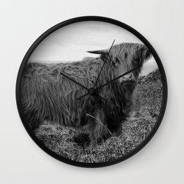 Highland cow II Wall Clock