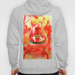 """""""To the Old Gods"""" American contemporary Guitar  painting, prints , music , electric , wall art,decor Hoody"""