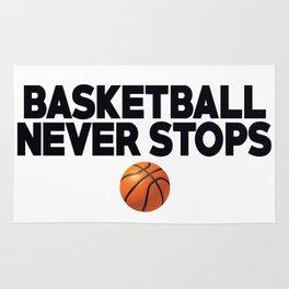 Basketball Never Stops Rug