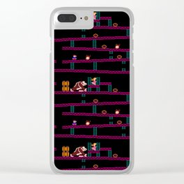 Donkey Kong Retro Arcade Gaming Design Clear iPhone Case