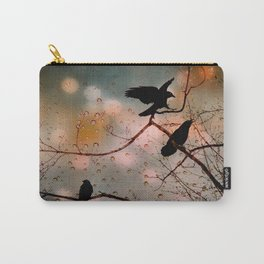 Rainy Day Crows Carry-All Pouch