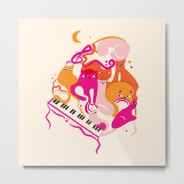 Jazz Cats Metal Print