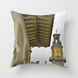 South Terrace and clock tower  Throw Pillow