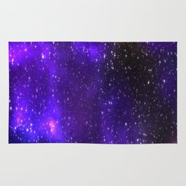 Galaxy Themed Background Rug