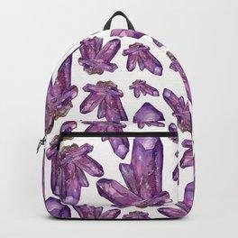 Amethyst Birthstone Watercolor Illustration Backpack