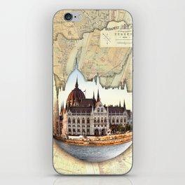 Budapest Globe Map iPhone Skin