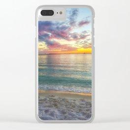 Kaleidoscope Sunset Clear iPhone Case