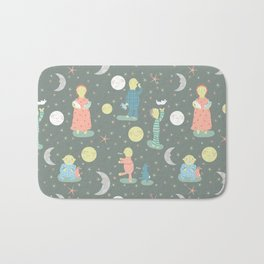 Everybody...off to bed - Childrens book illustration/Pattern Bath Mat