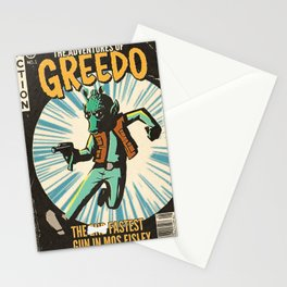 Greedo Vintage Comic Cover Stationery Cards