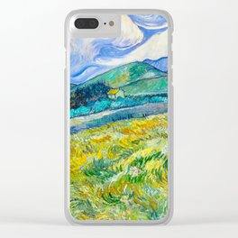 Mountain Landscape behind the Saint Paul Hospital Painting by Vincent van Gogh 1889 Clear iPhone Case