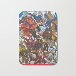 Rainbow meaning of life modern paintings by Christian T. Bath Mat