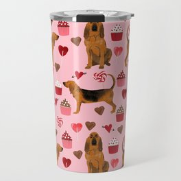 Bloodhounds cupcakes valentines day gifts dog lover pet friendly hearts dog breed Travel Mug