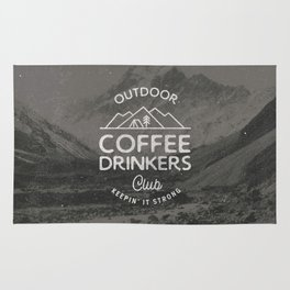 Outdoor Coffee Drinkers Club Rug