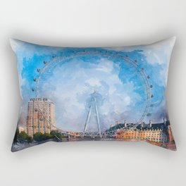 The London Eye Rectangular Pillow