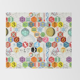 Math in color (white Background) Throw Blanket