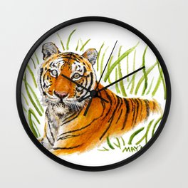 Zeus Tiger Bright Eyes Wall Clock