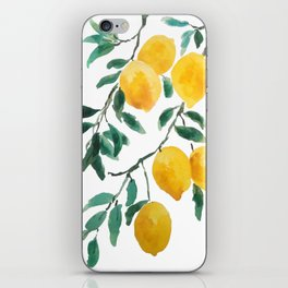 yellow lemon 2018 iPhone Skin