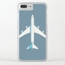 747 Jumbo Jet Airliner Aircraft - Slate Clear iPhone Case