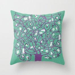 Mesh - tree Throw Pillow